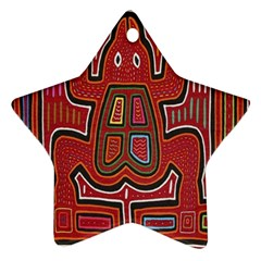 Frog Pattern Star Ornament (two Sides)