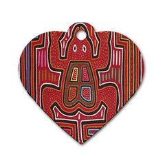 Frog Pattern Dog Tag Heart (two Sides)