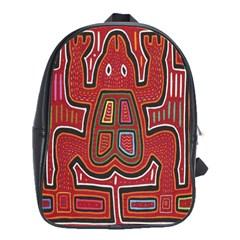 Frog Pattern School Bag (large)