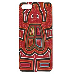 Frog Pattern Apple Iphone 5 Hardshell Case With Stand
