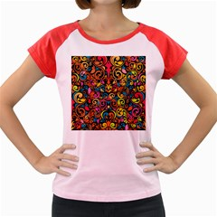 Art Traditional Pattern Women s Cap Sleeve T Shirt