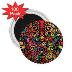 Art Traditional Pattern 2 25  Magnets (100 Pack)