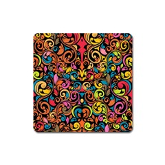 Art Traditional Pattern Square Magnet