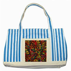 Art Traditional Pattern Striped Blue Tote Bag
