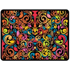 Art Traditional Pattern Fleece Blanket (large)
