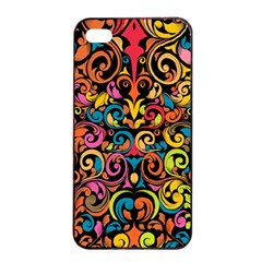 Art Traditional Pattern Apple Iphone 4/4s Seamless Case (black)