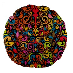 Art Traditional Pattern Large 18  Premium Round Cushions
