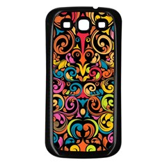 Art Traditional Pattern Samsung Galaxy S3 Back Case (black)