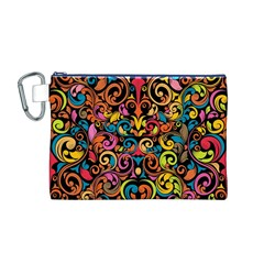 Art Traditional Pattern Canvas Cosmetic Bag (m)