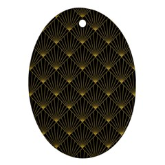 Abstract Stripes Pattern Ornament (oval)
