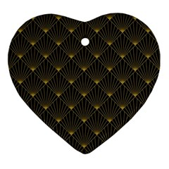 Abstract Stripes Pattern Ornament (heart)