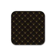 Abstract Stripes Pattern Rubber Square Coaster (4 Pack)