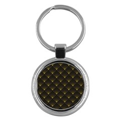 Abstract Stripes Pattern Key Chains (round)