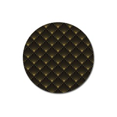 Abstract Stripes Pattern Magnet 3  (round)