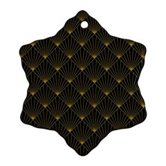Abstract Stripes Pattern Ornament (snowflake)