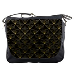 Abstract Stripes Pattern Messenger Bags