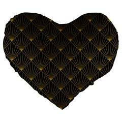 Abstract Stripes Pattern Large 19  Premium Flano Heart Shape Cushions