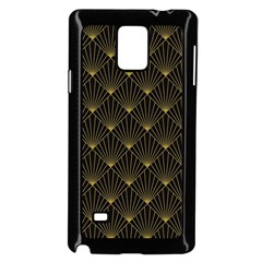 Abstract Stripes Pattern Samsung Galaxy Note 4 Case (black)