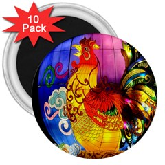 Chinese Zodiac Signs 3  Magnets (10 Pack)