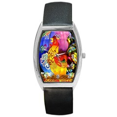 Chinese Zodiac Signs Barrel Style Metal Watch