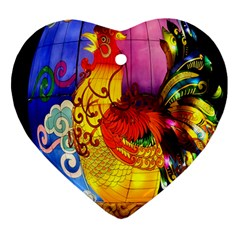 Chinese Zodiac Signs Heart Ornament (two Sides)