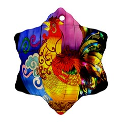 Chinese Zodiac Signs Snowflake Ornament (two Sides)