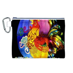 Chinese Zodiac Signs Canvas Cosmetic Bag (l)