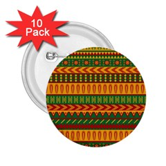 Mexican Pattern 2 25  Buttons (10 Pack)