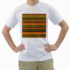Mexican Pattern Men s T Shirt (white) (two Sided)