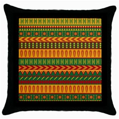 Mexican Pattern Throw Pillow Case (black)