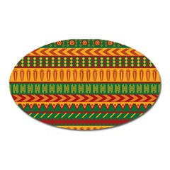 Mexican Pattern Oval Magnet