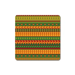 Mexican Pattern Square Magnet