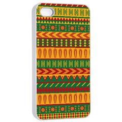 Mexican Pattern Apple Iphone 4/4s Seamless Case (white)