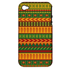 Mexican Pattern Apple Iphone 4/4s Hardshell Case (pc+silicone)