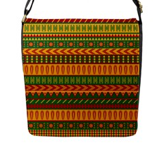 Mexican Pattern Flap Messenger Bag (l)