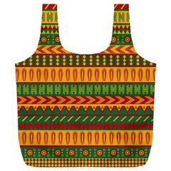 Mexican Pattern Full Print Recycle Bags (l)