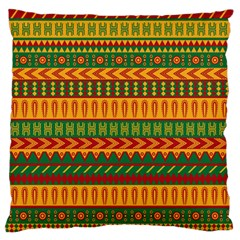 Mexican Pattern Large Flano Cushion Case (one Side)