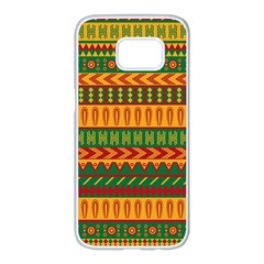 Mexican Pattern Samsung Galaxy S7 Edge White Seamless Case