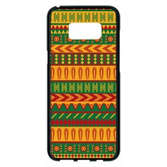 Mexican Pattern Samsung Galaxy S8 Plus Black Seamless Case