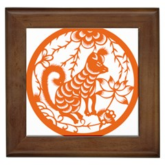 Chinese Zodiac Dog Framed Tiles