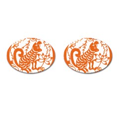 Chinese Zodiac Dog Cufflinks (oval)