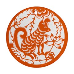 Chinese Zodiac Dog Round Ornament (two Sides)