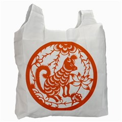 Chinese Zodiac Dog Recycle Bag (one Side)