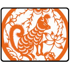 Chinese Zodiac Dog Fleece Blanket (medium)
