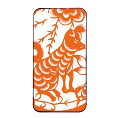 Chinese Zodiac Dog Apple Iphone 4/4s Seamless Case (black)