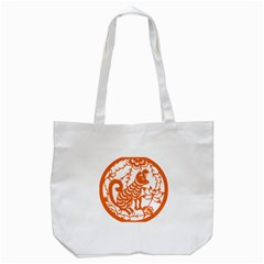 Chinese Zodiac Dog Tote Bag (white)
