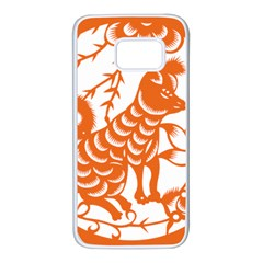 Chinese Zodiac Dog Samsung Galaxy S7 White Seamless Case