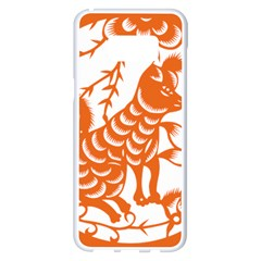Chinese Zodiac Dog Samsung Galaxy S8 Plus White Seamless Case