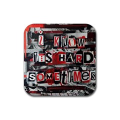 Top Lyrics   Twenty One Pilots The Run And Boys Rubber Coaster (square)