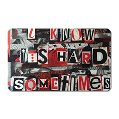 Top Lyrics   Twenty One Pilots The Run And Boys Magnet (rectangular)